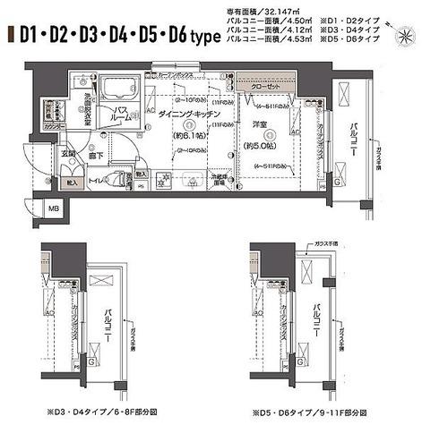 ZOOM西五反田 / Dタイプ(32.14㎡) 部屋画像1