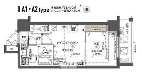 ZOOM西五反田 / Aタイプ(33.47㎡) 部屋画像1