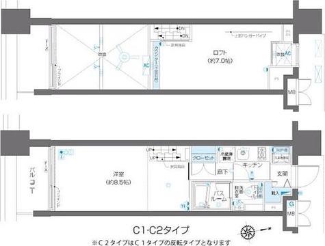ズーム麻布十番 / 2階 部屋画像1