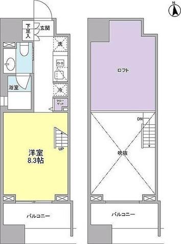 RIZ中目黒(リズ中目黒) / ワンルーム(26.86㎡) 部屋画像1