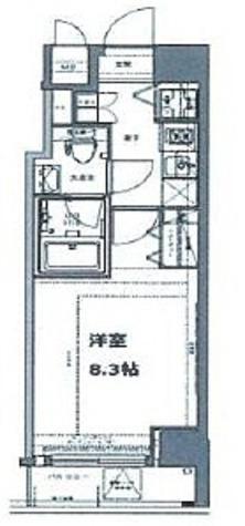 プレスタイル入谷 / 1K(25.56㎡) 部屋画像1
