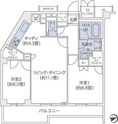 代官山BLESS鉢山 / 2階 部屋画像1
