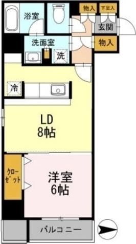 カスタリア栄 / 1LDK(44.37㎡) 部屋画像1