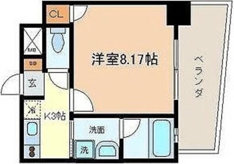 Brio武蔵小山(ブリオ武蔵小山) / 1K(26.34㎡) 部屋画像1