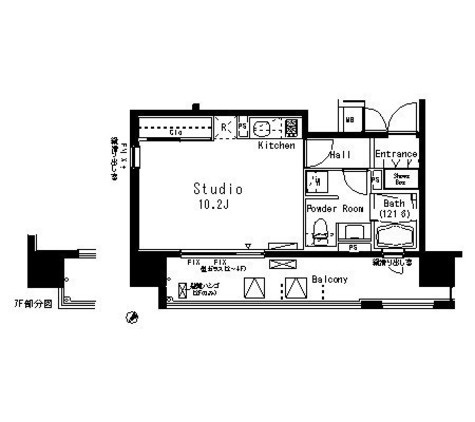 パークアクシス八丁堀 / 8階 部屋画像1