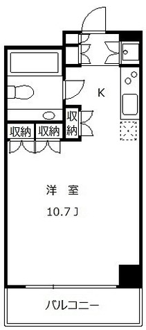 太子堂イースト / ワンルーム(31.08㎡) 部屋画像1