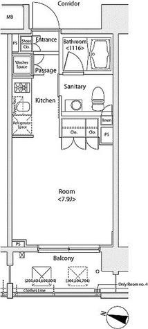 イプセ多摩川緑地 / Cタイプ 部屋画像1