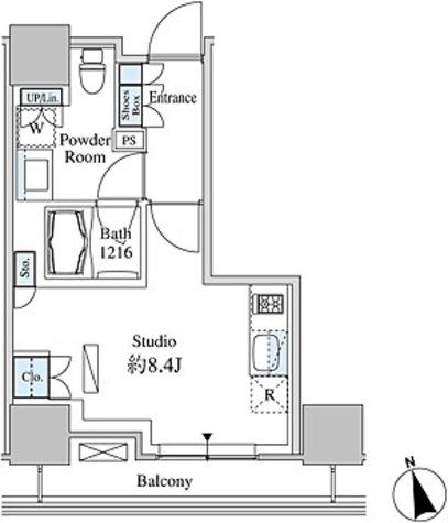 ベルファース芝浦タワー / R-Lタイプ(26.19㎡) 部屋画像1