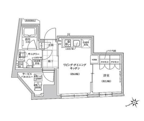 クレヴィアリグゼ三軒茶屋 / Eタイプ(26.84㎡) 部屋画像1