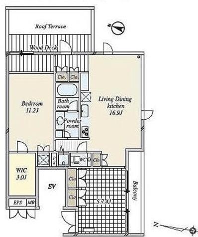 月光町アパートメント / 4階 部屋画像1