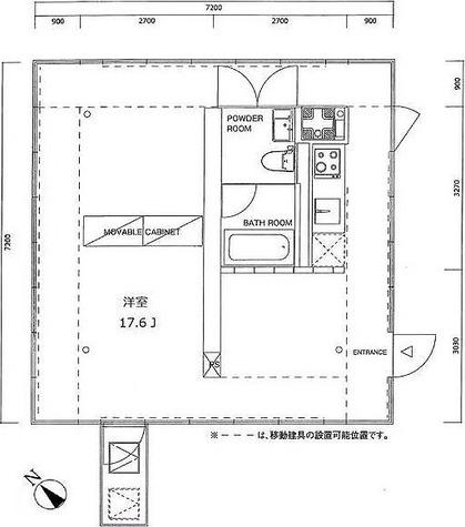 洗足 2分マンション / ワンルーム(51.84㎡) 部屋画像1