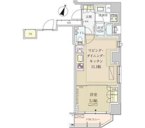 パークアクシス赤坂見附 / 1301 部屋画像1