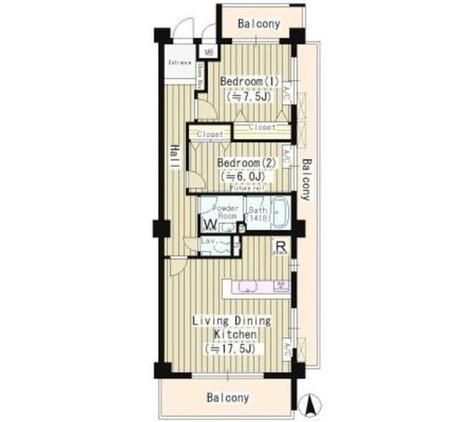 コリーヌ緑が丘グラン / 2階 部屋画像1