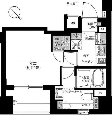 パークリュクス銀座mono / 1305 部屋画像1