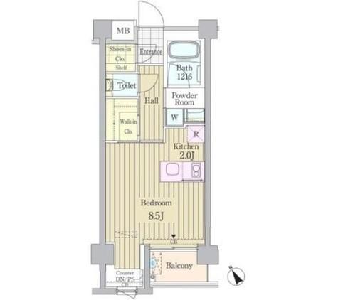 ガーデン原宿 / 2階 部屋画像1