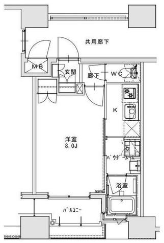 正金アパートメント入船 / 8階 部屋画像1