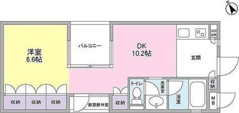 カーサ・ポルトーネ / 1DK(36.65㎡) 部屋画像1