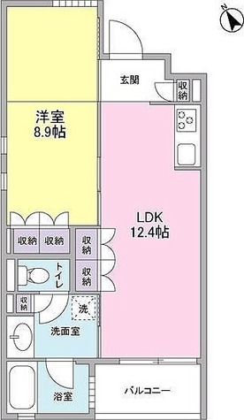 カーサ・ポルトーネ / 1LDK'(46.56㎡) 部屋画像1