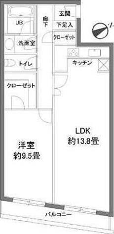 カスタリア西麻布霞町(旧ニューシティレジデンス西麻布) / 1LDK(65.57㎡) 部屋画像1
