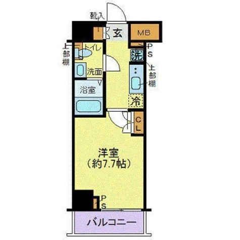 ジェノヴィア東日本橋駅前グリーンヴェール / 4階 部屋画像1