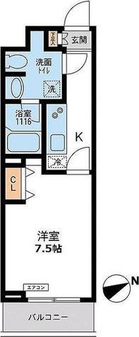 パシフィックコート目黒南 / Hタイプ(26.52㎡) 部屋画像1