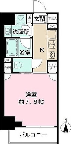 ザ・パーククロス広尾 / 1K(26.28㎡) 部屋画像1