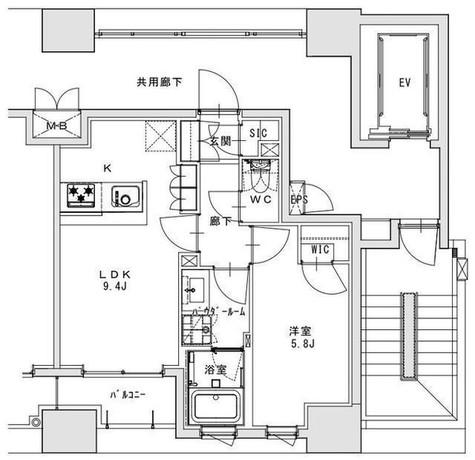 正金アパートメント入船 / 401 部屋画像1