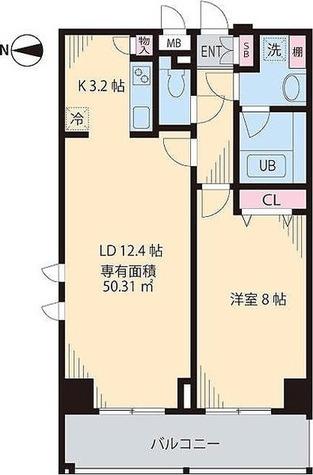 プレシャス音羽 / 1LDK(50.31㎡) 部屋画像1