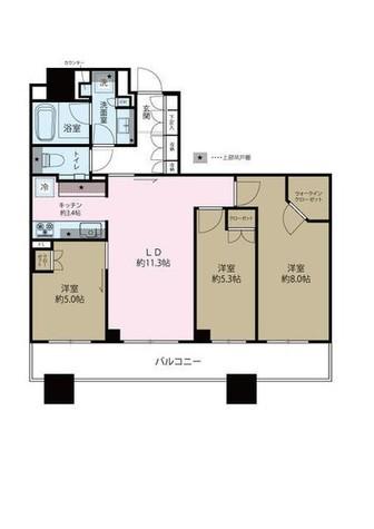 Brillia Towers目黒ノースレジ(ブリリアタワー目黒ノースレジ) / 3805 部屋画像1