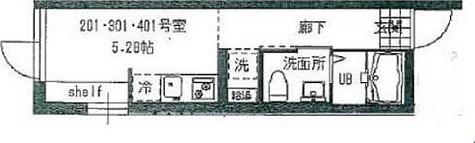 デザイアレジデンス桜新町 / Aタイプ(17.60㎡) 部屋画像1