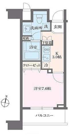 HF白金高輪レジデンス(旧ランドステージ白金高輪) / 1K(29.02㎡) 部屋画像1