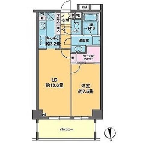カスタリア高輪(旧ニューシティレジデンス高輪) / 1LDK(50.60㎡) 部屋画像1