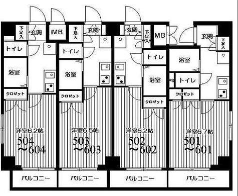 HF武蔵小山レジデンス(旧シングルレジデンス武蔵小山) / 1K(19.69㎡) 部屋画像1