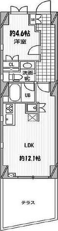 パシフィックコート中延 / 1LDK(40.92㎡) 部屋画像1