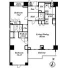 エスティメゾン白金台(旧:ミルーム白金台) / 2LDK(103.50㎡) 部屋画像1