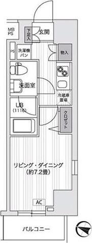 アンテニア東五反田 / 1K(25.31㎡) 部屋画像1