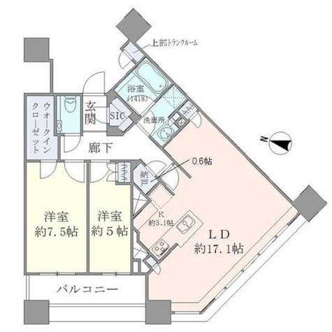 Brillia Towers目黒ノースレジ(ブリリアタワー目黒ノースレジ) / 3603 部屋画像1