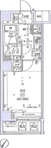 1号室の間取り図