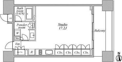 レジディア芝浦KAIGAN(旧KAIGAN APARTMENT) / 1階 部屋画像1