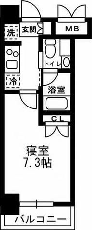 レジディア月島Ⅲ / C1タイプ(21.00㎡) 部屋画像1