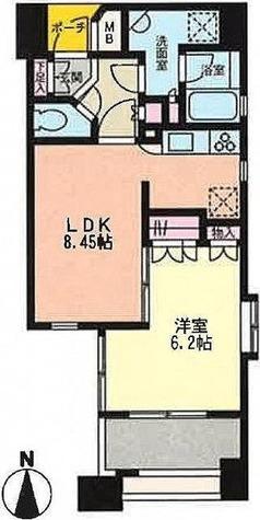 プライムアーバン恵比寿Ⅱ / 1LDK(37.40㎡) 部屋画像1