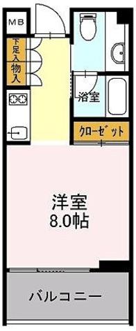 カスタリア初台Ⅱ (旧:イプセ初台) / Jタイプ 部屋画像1