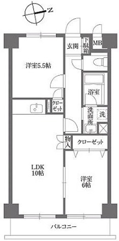 KDXレジデンス鶴見 / Bタイプ 部屋画像1