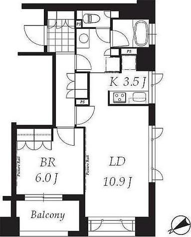 プライムメゾン銀座イースト(旧レジデンシア銀座イースト) / 1LDK(50.18㎡) 部屋画像1