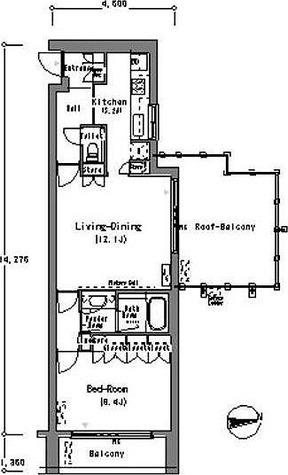 ルフォンプログレ南麻布(旧レフィナード南麻布) / 1LDK(59.84㎡) 部屋画像1