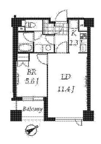プライムメゾン銀座イースト(旧レジデンシア銀座イースト) / 1LDK(44.44㎡) 部屋画像1