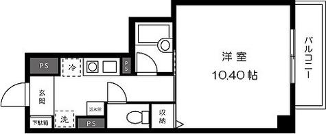 プレジール芝大門 / 1K(30.96㎡) 部屋画像1