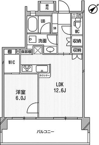 ライオンズシティ白金高輪 / Cタイプ(47.59㎡) 部屋画像1