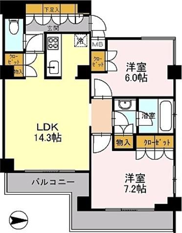 カスタリア目黒鷹番 / 6階 部屋画像1