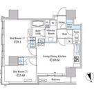 ベルファース芝浦タワー / 2LDK(56.65㎡) 部屋画像1